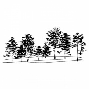Penny Black Mounted Rubber Stamp 6.4cm x 13cm -Christmas Park