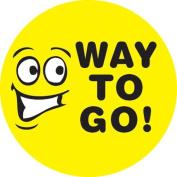 Ace Label 13889C 'Way to Go' Teacher School Stickers, 6.4cm , Multicolor, Roll of 100