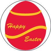 Ace Label 15889C Teacher Easter Egg School Stickers, 6.4cm , Red/Yellow, Roll of 100