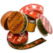 Morex Bobbin Ribbon for Scrapbooking, Autumn Colours, 6-Pack