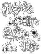 Autumn Leaves Stampology Clear Stamps Between The Lines 6 Pc Set