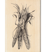Inkadinkado Wood Mounted Rubber Stamp PP, Fall Corn