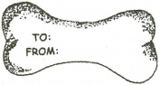 Dog Rubber Stamp - To/From Dog Bone-DSP2E - Size
