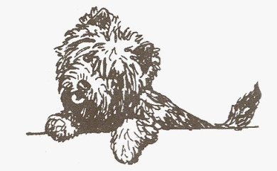 Dog Rubber Stamp - Cairn Terrier-2E (Size: 5.1cm Wide X 2.5cm - 1.3cm Tall)