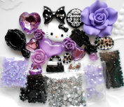 LOVEKITTY -- DIY 3D Kitty Bling Cell Phone Case Resin Flat back Kawaii Cabochons Deco Kit / Set . by lovekitty