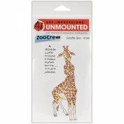 Art Impressions Zoo Crew Cling Rubber Stamps 20cm x 10cm -Giraffe Set