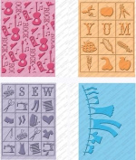 Provo Craft Cuttlebug Cricut Companion Embossing Folder Bundle, Country Life