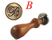 New Letter B Vintage Alphabet Initial Wax Seal Stamp Initial Stamp With Rosewood Handle Set