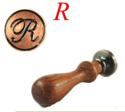 New Letter R Vintage Alphabet Initial Wax Seal Stamp Initial Stamp With Rosewood Handle