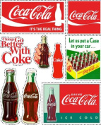 Coca-Cola Scrapbooking Stickers - Bottles and Signs