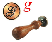 New Letter G Vintage Alphabet Initial Wax Seal Stamp Initial Stamp With Rosewood Handle Set