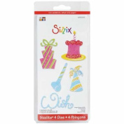 Sizzi by Sizzlits Die Set 4 Pack, Small Celebration #2