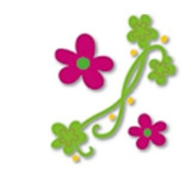 Ellison Design Thin Cuts - Flowers with Streamers
