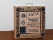 Floral Rubber Stamp Set