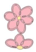 Lasting Impressions Brass Stencil - Flowers