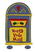 Lasting Impressions Brass Stencil - North Pole Mail