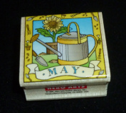May Watering Can Rubber Stamp