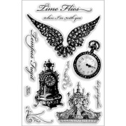Stampendous Perfectly Clear Stamps 4'X6' Sheet Time Flies