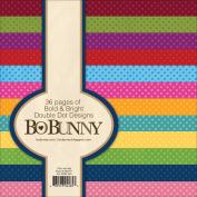 BoBunny Double Dot Paper Pad 15cm x 15cm 36/Pkg