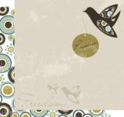 30cm X 30cm Passover Scrapbooking Paper- Freedom Dove