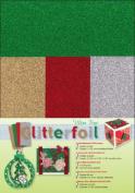 Die-cut Ultra Fine Glitter foi Ultra Fine Glitter Foil Sheets for Scrapbooking, 10cm by 23cm