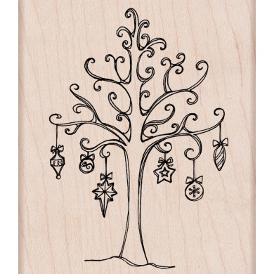 Hero Arts Mounted Rubber Stamps-Tree With Ornaments