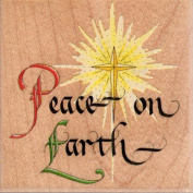 Peace on Earth Wood Mounted Rubber Stamp