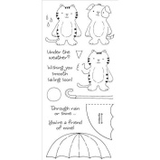 Stampers Anonymous Honeypop Clear Stamp Set Umbrella Friends