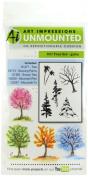 Art Impressions Watercolour Cling Rubber Stamps 10cm x 18cm -Tree Set