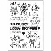 Technique Tuesday Clear Stamps 10cm x 15cm -Monsters Ink