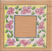 Marna Festival Frame Wood Mounted Rubber Stamp