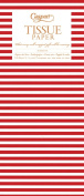 Entertaining with Caspari Tissue Paper, Red Stripe, 4-Sheets