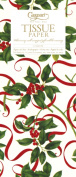 Entertaining with Caspari Tissue Paper, Holly And Ribbons, 4-Sheets