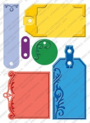 Provo Craft Cuttlebug Plus Embossing Folders, Embossed Tags