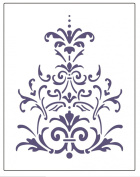 Faux Like a Pro Victorian Lace Stencil, 14cm by 18cm , Single Overlay