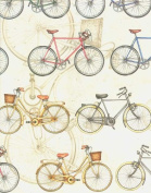 Bicycles Rolled Decorative Gift Wrap Paper