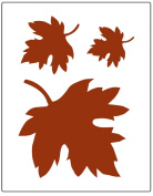Faux Like a Pro Fallen Leaves Wall Stencil, 14cm by 18cm , Single Overlay