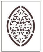 Faux Like a Pro Stamped Filigree Wall Stencil, 14cm by 18cm , Single Overlay