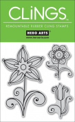 Cling Rubber Stamps: 3 Flowers