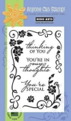Hero Arts Scroll Frame and Message Clear Stamp Set