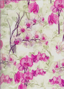 Orchids Decorative Gift Wrap Paper Roll of 2 Full Sheets