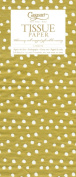Entertaining with Caspari Tissue Paper, Small Dots Gold, 4-Sheets