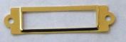 10 Label/card Holder Brass Plated 5/8x2 1/2 w/screws