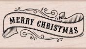 Hero Arts Fancy Ribbon Merry Woodblock Stamp