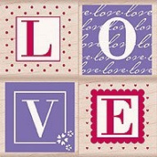Love Letters Wood Mounted Rubber Stamp Set