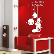 60*45CM Merry Christmas Lovely PVC Vinyl Art Wall Sticker Shopwindow Decorative Decals Home Decor. CH052