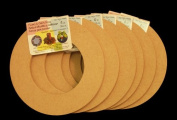 6 Pack, Biodegradable Floral Craft Ring, 15cm , Ez Glueable Wreath Form, for Photo Frame, Candle Ring Etc