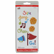 Sizzi by Sizzlits Die Set 4 Pack, Small Cheer