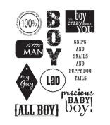 Autumn Leaves Stampology Full Sheet Clear Stamps Baby Boy