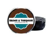 PSA Essentials 2-Colour Ink Pad, Espresso/Turquoise